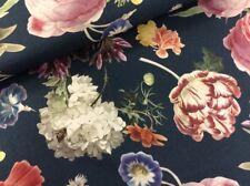 0,5 m Dekostoff TRIXIE, Blumen, blau