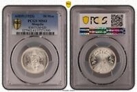MONGOLIA - RARE SILVER 50 MONGO UNC COIN 1925 YEAR KM#7 PCGS GRADING MS61