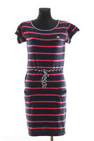 *** LACOSTE *** Women's Blue striped short sleeved Knitted Dress Size 40