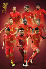 Liverpool Fc 2016/17 9-Players in Action Poster Sturridge, Coutinho, Firmino +