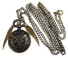 NEW! Legendary Potter OWL Style Flying ball necklace pocket watch silver wings!