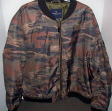 NEW AE American Eagle Camo Quilted Bomber Jacket Coat XXXL 3XL Green Mens