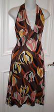 M MISSONI Jersey Signature Logo Halter Dress~ US 6/ I 42~Made in Italy
