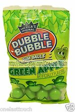 DUBBLE BUBBLE 4 oz Bag GREEN APPLE Flavored GUM BALLS Gluten Free NEW! Exp. 8/18