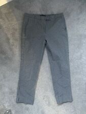 Marks and Spencer Dogtooth Check Stretch Ankle Gazer Trousers - Size 12