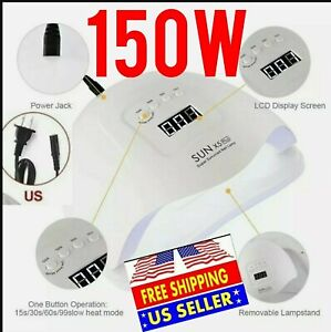 SUN X5Plus 150W Nail Lamp UV LED Lightl Nail Dryer Gel Machine Curing, US ⭐⭐⭐⭐⭐