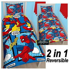OFFICIAL SPIDERMAN WEBHEAD SINGLE DUVET COVER SET - ROTARY - KIDS BEDDING NEW
