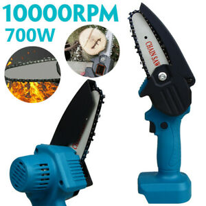 18V Cordless Electric Chainsaw Wood Cutter One-Hand Chain Saw For Makita Battery