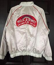 RARE JOHN LENNON Yoko Ono MILK & HONEY Promo TOUR Jacket LARGE L Vintage 1984