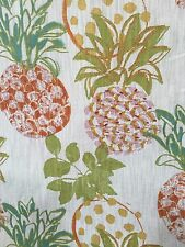 "RICHLOOM PINEAPPLES GROVE FRUIT THEME LINEN BLEND FABRIC BY THE YARD 54""W"