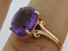 Solitaire Not Enhanced Amethyst Fine Rings