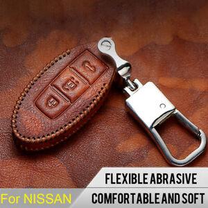 Car Leather Key Holder Case Cover Bag shell For Nissan Patrol Y62 2010-2019