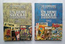 Lot BD Tintin - Le Lombard Un Demi siècle d'aventures 1 & 2 1946-1996 / EO HERGE