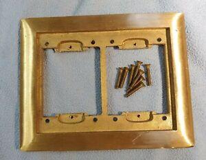 (1)T&B Steel City P-64-2G-CP 2 gang Carpet Plate Brass   NOS 840-640 series