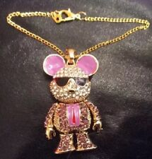 """Very Cool Mouse Necklace With Rhinestones Fits 18"""" American Girl Boy Doll AG57"""