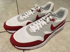 NIKE AIR MAX 1 ULTRA ESSENTIAL WHITE UNIVERSITY RED NEW NWOB 819476 106 SIZE 8.5
