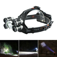 "Zoomable 90000LM 5x XML T6 LED Rechargeable 18650 USB Headlamp""Head Light Sports"