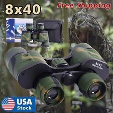 8x40 Zoom Binoculars Day/Night Vision Travel Outdoor HD Hunting Telescope +Bag
