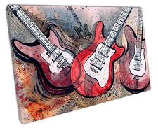 Chitarre a Muro ARTE foto di grandi dimensioni 75 x 50 cm