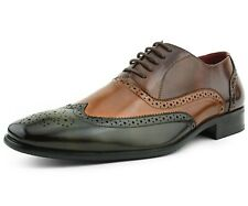 Men's Dress Shoes - Manmade Leather Wing-Tip Oxfords, Lace Up Mens Dress Shoes