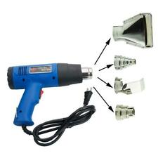 1500W Dual-Temperature Heat Gun + 4pcs Stainless Steel Concentrator Tips Blue