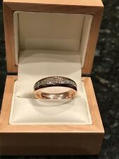 18 Carat Rose Gold 2.45ct Diamond Wedding Band, Full Eternity Ring, Size P1/2
