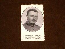 WW1 Prima Guerra Mondiale 1914 - 1918 Caduto Francesco Righetto di Bologna