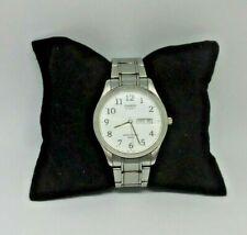 Casio MTP-3039 Men's 50M Day Date Analog Quartz Dress White Braclet Watch