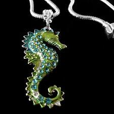Seahorse necklace  European chain  Ocean  nautical  beach  best jewelry gift