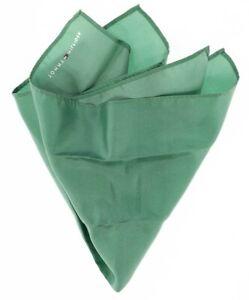 Tommy Hilfiger Mens Solid Green 'Elegance' 100% Silk Pocket Square 140108
