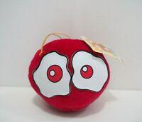 "Puyo Puyo Compile RED Puyo Ball Suction SEGA 1994 Plush 4"" TAG Toy Doll Japan"