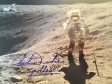 Astronaut Charles Duke Signed Photograph on the Moon with Rover (Apollo 16)