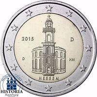 2 Euro Paulskirche Bundesland Hessen Deutschland 2015 Stempelglanz Mzz D