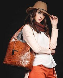 AlexAlex Max 1143 Modern Fine Handbag - Brown - Florence, Italian