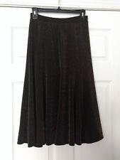 NWT Women's CHICO'S Sz 0 (S/4) Travelers Metallic Glam Jordie Skirt Hot Fudge