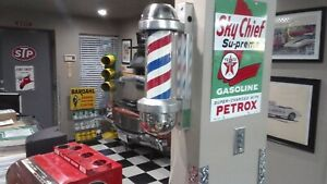 Vintage barber pole William Marvy model 410 working in excellent condition