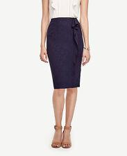Ann Taylor - Size 12P (MP) Navy Blue Mockingbird Ruffle Skirt $98.00 (615)