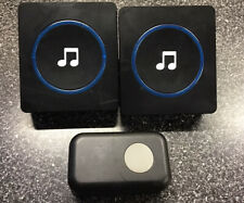 JETech Bell Portable Wireless DoorBell Chime Plug-in Push Button ..Black