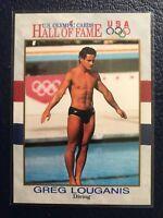 GREG LOUGANIS ~ Gold Medalist  1991 Impel U.S. Olympic HOF Card #50