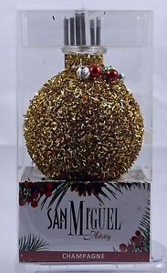 San Miguel Holiday Diffuser Set Champagne Scented Oil Decorative NIB