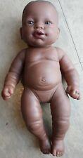 Berenguer Chubby Newborn African American Baby Doll Brown Eyes Black Hair 13�