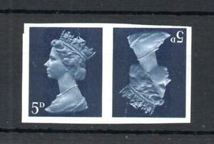5d MACHIN UNMOUNTED MINT IMPERFORATE TETE-BECHE PAIR (CREASED)