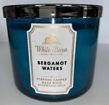 Bath & Body Works BERGAMOT WATERS 3 Wick Candle 14.5 Oz