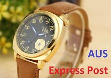 Gold Plated Case Oval Analogue Wristwatches