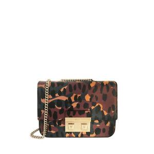 Furla Mini Bella Animal Print Leather Crossbody Bag