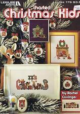 Christmas Kids Cross Stitch Chart Book Leisure Arts 29 Designs Leaflet 175