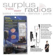 Hawk Tactical Police Lapel Headset Mic Motorola HT1250 HT750 MTX950 MTX850