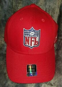 NFL Shield Logo Reebok Hat - RED with NFL logo One Size Fits All FREE SHIP