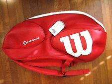 Wilson Vancouver 9 Pack Tennis Racquet Bag -Red/White- Wrz840709 -Brand New!