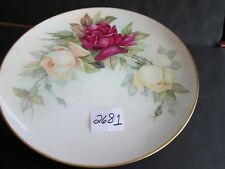 T&V Limoges 12 inch Plate with Large Roses